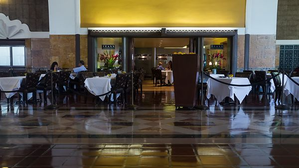 Medium Shot: Subtle Motion Of TRAXX Restaurant in Union Station