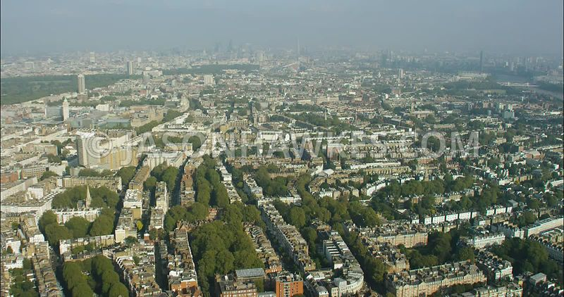 London Aerial Footage of South Kensington.