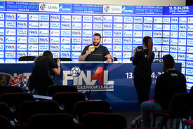 Stojanche Stoilov of Vardar during the Final Tournament - Media Meeting - Final Four - SEHA - Gazprom league, Skopje, 14.04.2018, Mandatory Credit ©SEHA/ Nebojsa Tejic