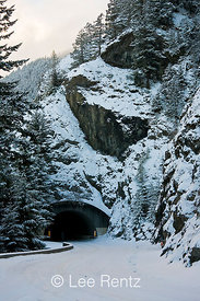 One of the three tunnels along the road to Hurricane Ridge, Olympic National Park, Olympic Peninsula, Washington, USA, March, 2009_WA_8199