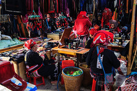 Sapa Traditional Clothes Market