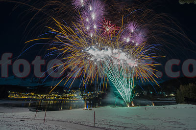 St. Moritz New Year Fireworks photos