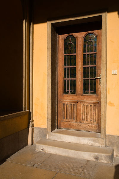 Hungary - Pecs - A typical Art Nouveau style doorway