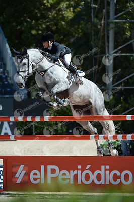 Jamie WINNING ,(AUS), ZARISSA during Coca-Cola Trofey competition at CSIO5* Barcelona at Real Club de Polo, Barcelona - Spain