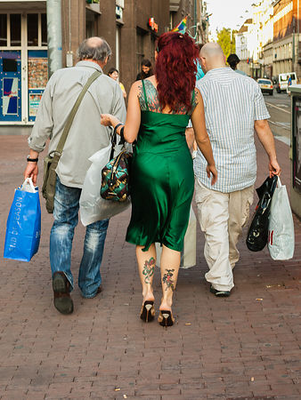 Tattoo lady and her carriers