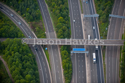 Junction of M25 motorway