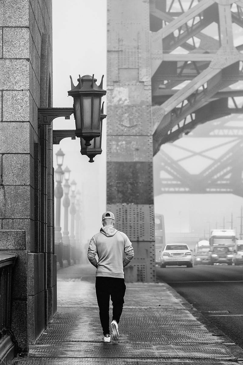 Foggy Tyne Bridge.