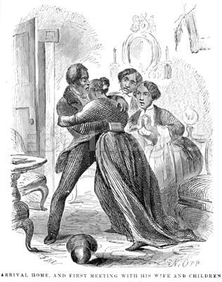 Solomon Northup arrives home after enslavement