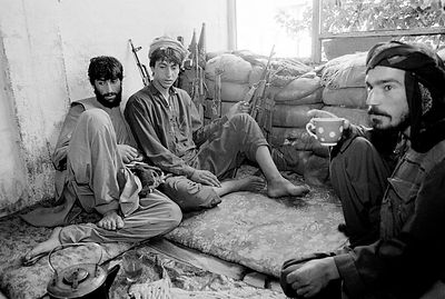 Mujahadeen fighters , Kabul. Afghanistan