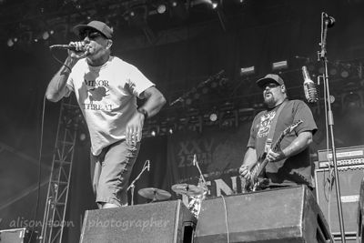 Jim Lindberg and Fletcher Dragge of Pennywise, Aftershock 2014