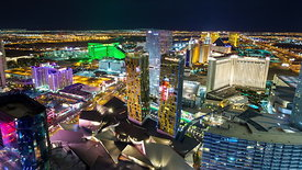 South Las Vegas Strip from Above at Night