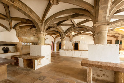 The kitchen of the Convent of Christ. a UNESCO World Heritage Site. Tomar, Portugal
