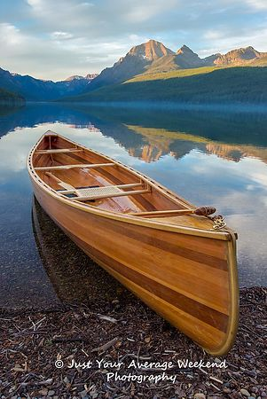 Bowman Lake Canoe - Glacier National Park
