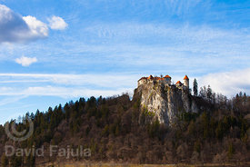 Bled Castle (Blejski grad) in late Winter