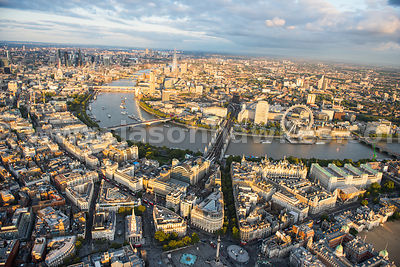 Aerial view of South Bank, London