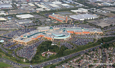aerial photograph of The Trafford Centre  Manchester England UK