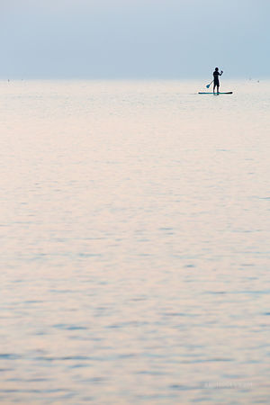 EVENING PADDLE BOARDING CAPE ANN MASSACHUSETTS VERTICAL