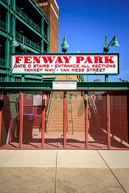 Boston Fenway Park Sign Gate D Entrance