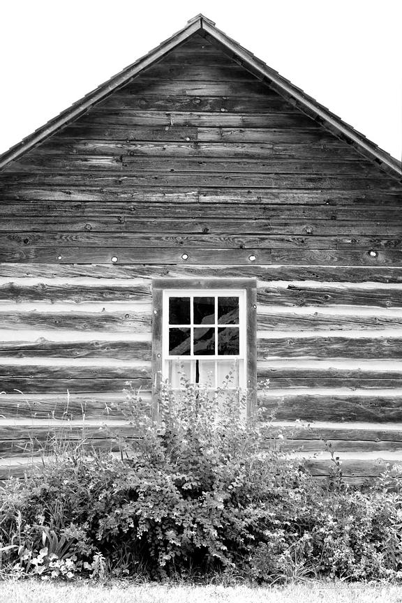 OLD HOUSE DOOR COUNTY WISCONSIN BLACK AND WHITE VERTICAL