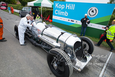 Napier-Railton Track Racer (24-litre 12-cylinder, 1933). The car that broke 47 world speed records and is the all-time lap record holder at Brooklands - Kop Hill Climb 2013