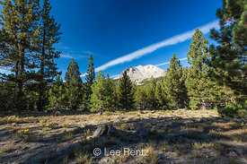 Lassen Peak Viewed from a Mountain Meadow in Lassen Volcanic National Park