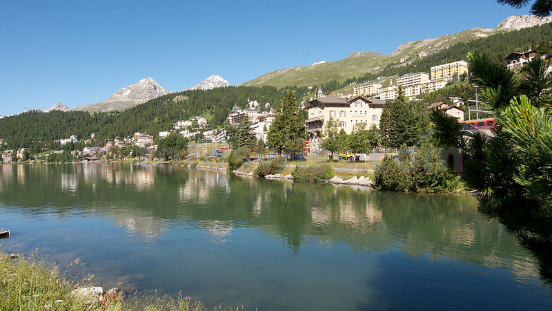 St.Moritz City Lake View Summer photos