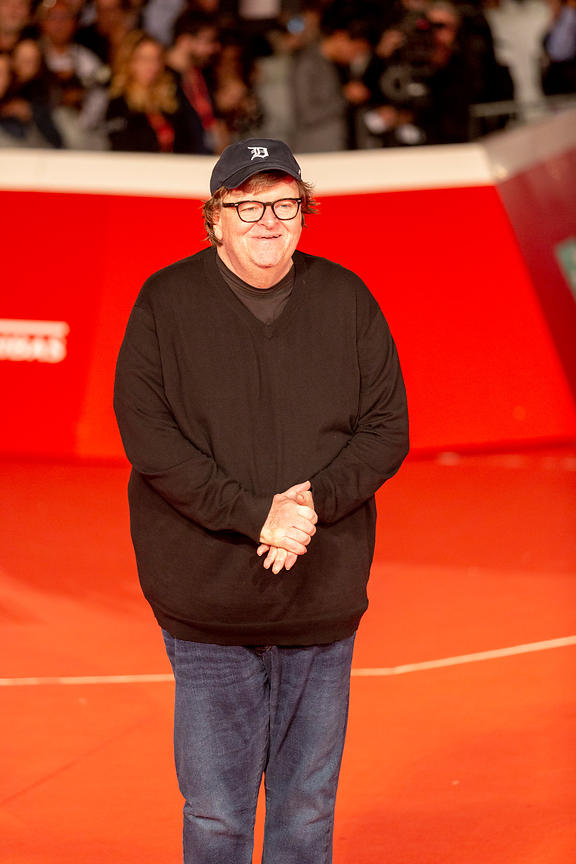 Michael Moore red carpet for the film Fahrenheit 11/9, Rome, Italy, 20, Oct, 2018