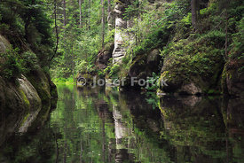 Lake in Adrspach Rocks, Czech Republic