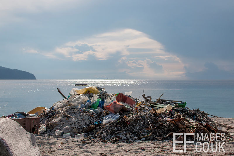 A day or so after any storm, this is a fraction of what washes up on Pom Pom Island, Sabah, Malaysia.