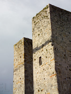 San Gimignano Dual Towers