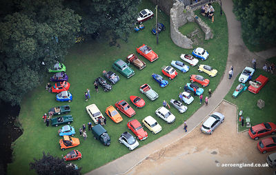 Micro Car Rally at Whittington Castle in Shropshire