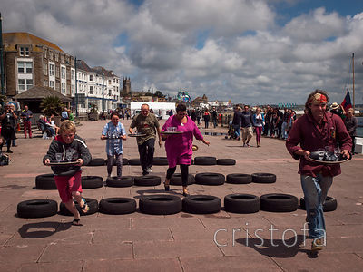 games on the Prom on Golowan quay day