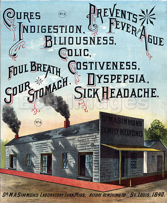 Patent medicine lab of Doctor MA Simmons