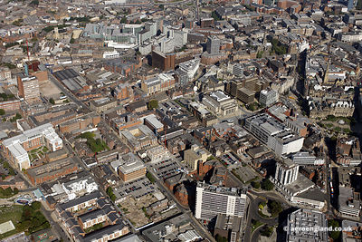 aerial photograph of  .Sheffield city centre