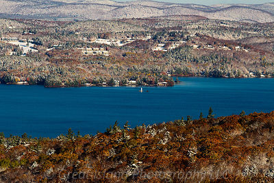 Sudden Autumn Snow Lake Sunapee