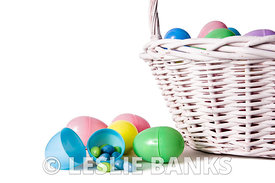 Easter basket and eggs