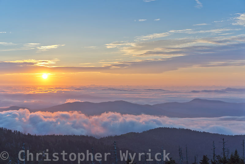 Another epic sunrise from Clingman's Dome.  This image gives the feeling of flying above the mountains and ever present mist looking toward the glorious morning sun.