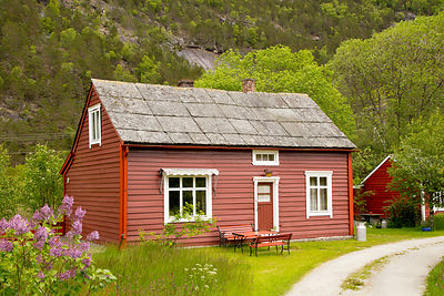 Small Red Norwegian House