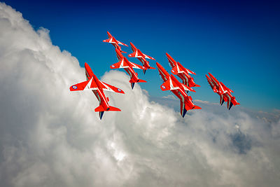 Red Arrows sky high