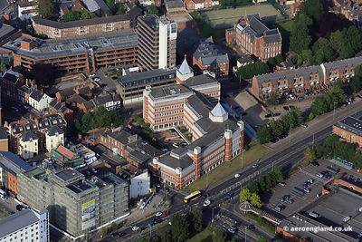 aerial photograph of Sentinel House, 37-45 Surrey Street, Norwich, Norfolk, NR1 3UY