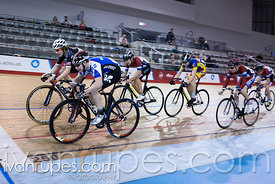 U17 Men Keirin Final. 2016/2017 Track O-Cup #3/Eastern Track Challenge, Mattamy National Cycling Centre, Milton, On, February 11, 2017