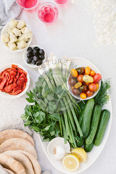 Ingredients for Greek Chicken Salad