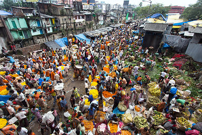 The Howrah flower market is the busiest such market in Asia, Kolkata, India