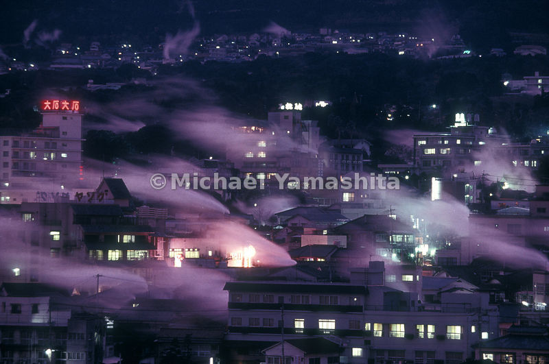 Veils of steam drift over Beppu, Japan's most famous - or infamous - hot-springs resort. Tourists flock here for the onsen (spas), sand baths, and steaming mud pools. Some love Beppu; some loathe it: The city has a reputation for cheap tourist attractions and tawdry nighlife, an image that tries to reverse as it builds a new 28-million-dollar convention center.