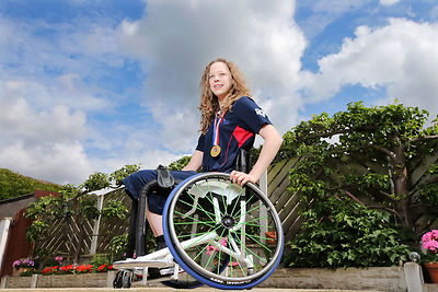 Leah Evans has won a won gold medal in the under-25 Wheelchair Basketball Championships. She has also been selected for senior GB team for the European Championships in August.