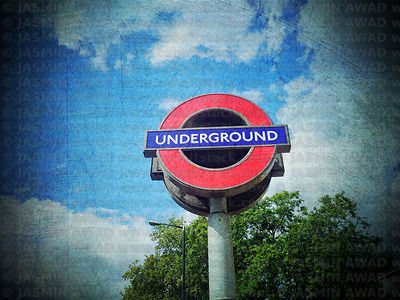 Underground Sign in London, UK..Digital Filter applied
