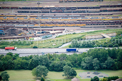 M6 Motorway and train lines, West Midlands