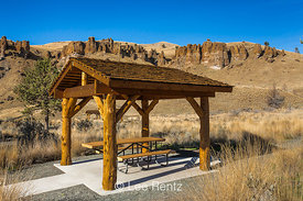 Picnic Area in the Clarno Unit of John Day Fossil Beds National Monument