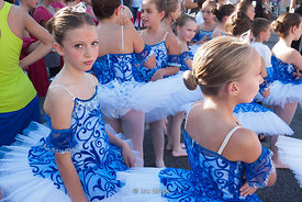 Girls with ballet costumes at Festa Madonna del Rosario in Portogruaro, Italy.