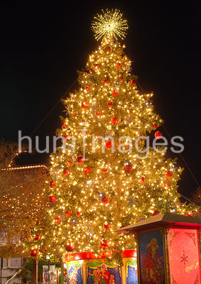 Large Christmas tree in Ft. Worth Texas